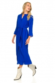 Lolly's Laundry |  Ruffled maxi dress Harper | blue  | Picture 4