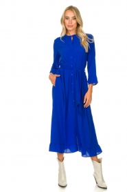 Lolly's Laundry |  Ruffled maxi dress Harper | blue  | Picture 3