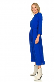 Lolly's Laundry |  Ruffled maxi dress Harper | blue  | Picture 6
