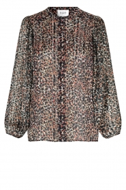Second Female |  Leopard print blouse with Lurex Erna | black  | Picture 1