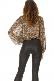 Second Female |  Leopard print blouse with Lurex Erna | black  | Picture 7