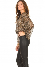 Second Female |  Leopard print blouse with Lurex Erna | black  | Picture 6