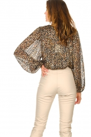 Second Female |  Leopard print blouse with Lurex Erna | black  | Picture 8