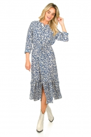 Lolly's Laundry |  Printed midi dress Anastacia | blue  | Picture 2