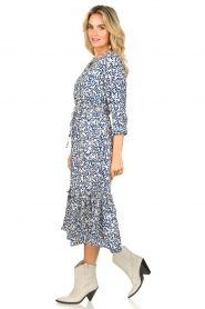 Lolly's Laundry |  Printed midi dress Anastacia | blue  | Picture 4