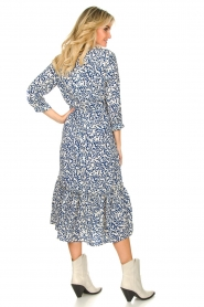 Lolly's Laundry |  Printed midi dress Anastacia | blue  | Picture 5