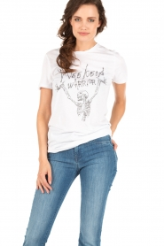 Zoe Karssen | T-shirt Weekend Warrior | wit  | Afbeelding 2