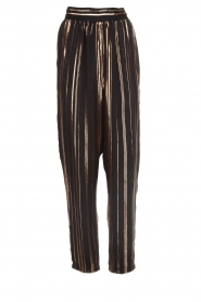 IRO |  Trousers with gold striped True Love | black  | Picture 1