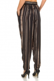 IRO |  Trousers with gold striped True Love | black  | Picture 6