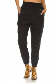 IRO |  Baggy pants with studs Richly | black  | Picture 3