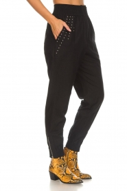 IRO |  Baggy pants with studs Richly | black  | Picture 4