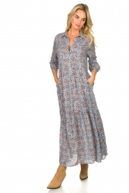 Lolly's Laundry |  Floral maxi dress Penny | blue  | Picture 2