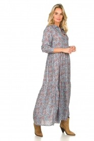 Lolly's Laundry |  Floral maxi dress Penny | blue  | Picture 3
