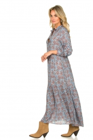 Lolly's Laundry |  Floral maxi dress Penny | blue  | Picture 4