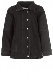 IRO |  Oversized denim jacket Cauron | black  | Picture 1