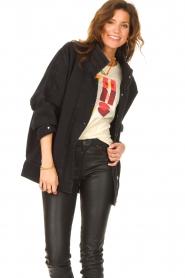 IRO | Oversized spijkerjas Cauron | zwart  | Afbeelding 4