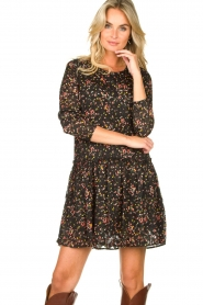 Lolly's Laundry |  Floral dress Gili | black  | Picture 6