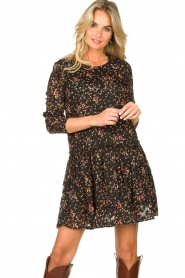 Lolly's Laundry |  Floral dress Gili | black  | Picture 5