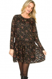Lolly's Laundry |  Floral dress Gili | black  | Picture 4