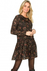 Lolly's Laundry |  Floral dress Gili | black  | Picture 2