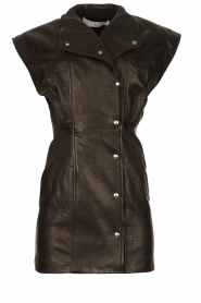 IRO |  Leren dress Anata | black  | Picture 1