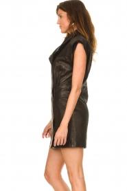 IRO |  Leren dress Anata | black  | Picture 7