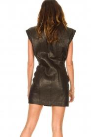 IRO |  Leren dress Anata | black  | Picture 8