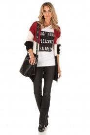 Zoe Karssen | Linnen T-shirt Pleasure | wit  | Afbeelding 3