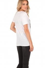 Zoe Karssen | Linnen T-shirt Pleasure | wit  | Afbeelding 5