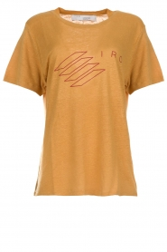IRO |  Printed linen T-shirt Lucie | yellow  | Picture 1