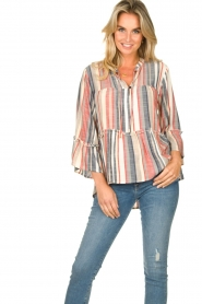 Lolly's Laundry |  Striped blouse Toga | multi  | Picture 4