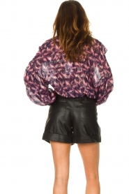 IRO |  See-through blouse with lurex Tchami | purple  | Picture 7
