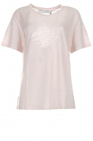 IRO |  Printed linen T-shirt Lucie | pink  | Picture 1