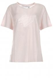 IRO | Linnen T-shirt met opdruk Lucie | roze  | Afbeelding 1