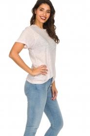 IRO | Linnen T-shirt met opdruk Lucie | roze  | Afbeelding 4