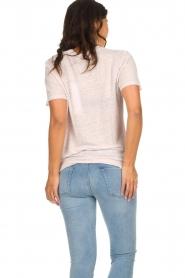 IRO | Linnen T-shirt met opdruk Lucie | roze  | Afbeelding 5