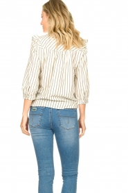Lolly's Laundry |  Striped ruffle blouse Hanni | white  | Picture 7