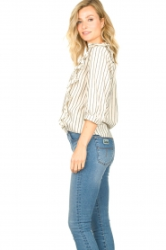 Lolly's Laundry |  Striped ruffle blouse Hanni | white  | Picture 6