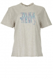 IRO |  T-shirt with text print Hothead | grey  | Picture 1