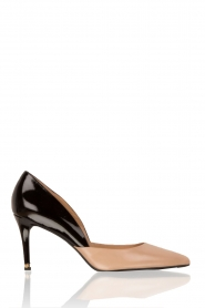 Leather pumps Ash | black