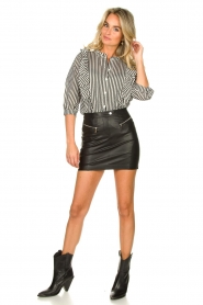Lolly's Laundry |  Striped ruffle blouse Hanni | print  | Picture 3