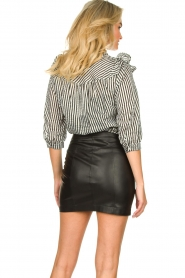 Lolly's Laundry |  Striped ruffle blouse Hanni | print  | Picture 6