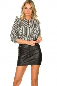 Lolly's Laundry |  Striped ruffle blouse Hanni | print  | Picture 5