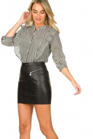 Lolly's Laundry |  Striped ruffle blouse Hanni | print  | Picture 4