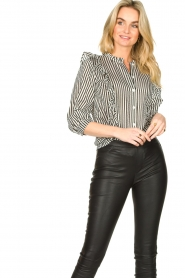 Lolly's Laundry    Striped ruffle blouse Hanni   print    Picture 2