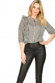 Lolly's Laundry    Striped ruffle blouse Hanni   print    Picture 4