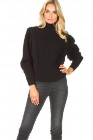 IRO | Gebreide trui Macky | zwart   | Afbeelding 2