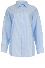 IRO | Gestreepte blouse Sedate | blauw  | Afbeelding 1