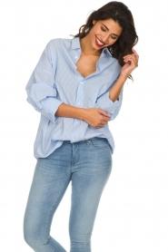IRO | Gestreepte blouse Sedate | blauw  | Afbeelding 2