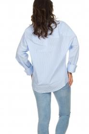 IRO | Gestreepte blouse Sedate | blauw  | Afbeelding 6